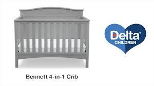 Delta Canton Convertible Crib by Delta Children U0027s Bennett 4 In 1 Crib Vignette Youtube