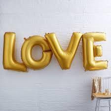 gold love foil balloon large gold love letters wedding gold