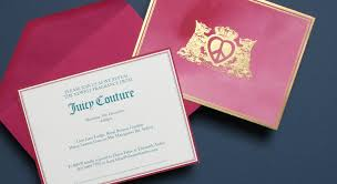 creative corporate invitations juicy couture corporate event invitations u2013 phoebe gazal design