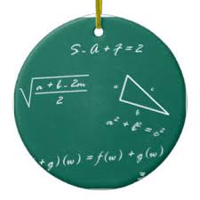 for math teachers tree decorations ornaments