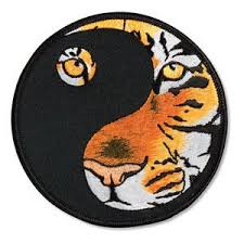 yin yang tiger patch c0818 an eye awesome and tigers