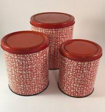 vintage canisters for kitchen vintage decoware canisters ebay