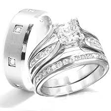 wedding rings set kingswayjewelry his 3 women sterling