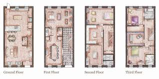 house plans and more new york row house floor plans architectural designs