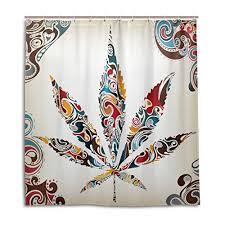 my daily vintage marijuana leaf of cannabis tribal pattern shower