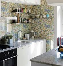 country kitchen wallpaper ideas 15 charminng kitchens with floral wallpaper rilane