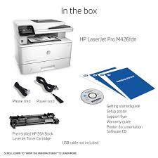 amazon com hp laserjet pro m426fdn multifunction laser printer