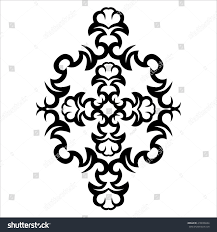 stencil pattern design ornament abstract stock vector