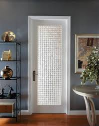 prehung interior french doors with frosted glass hallway