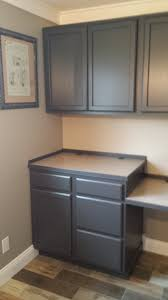 what type of behr paint for kitchen cabinets finished cabinets painted in behr cracked pepper grey