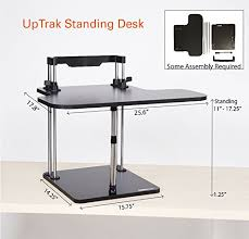 uptrak by stand steady standing desk height adjustable