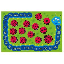 Ladybug Area Rug Kalokids Back To Nature Ladybug Alphabet Rug Schoolsin