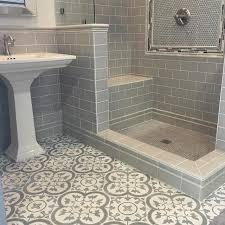 Hexagon Tile Bathroom Floor by Bathroom Tiles Cheverny Blanc Encaustic Cement Wall And Floor