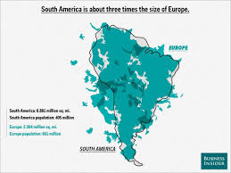 Map Of Mexico And South America by Map Overlays Comparing Size Business Insider