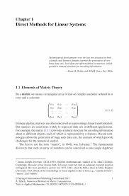 direct methods for linear systems springer