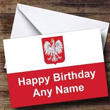 polish flag poland personalised birthday card the card zoo