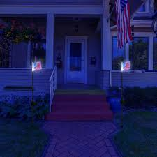 Flag Stakes Solar Us Flag Stake Lights 4th July Independence Day Special My