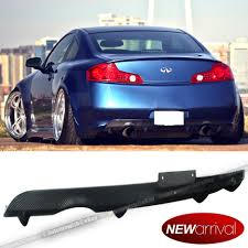 for 03 07 g35 2dr carbon fiber rear bumper diffuser lip body kit