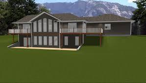 house plan house plans with daylight walkout basement basements