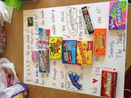 middle school graduation gifts a candy card for a boy promoting graduating middle school
