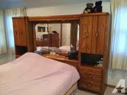 Headboard Wall Unit Queen Bed Wall Unit Mirrored Headboard U0026 Dresser Combo Fenton