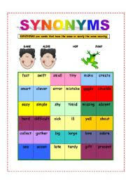 synonyms an elementary overview