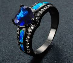 beautiful blue rings images Beautiful lake blue opal rings 60 off free shipping worldwide jpg