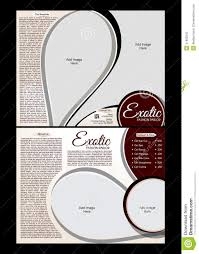 tri fold exotic parlor brochure template stock vector image