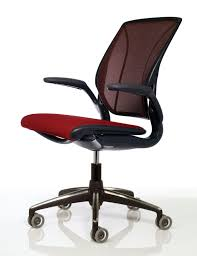 stylish ergonomic desk chairs red black color mesh seat material