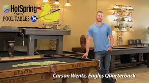 hotspring spas pool tables 2 bismarck nd carson wentz loves his ndsu pool table from hotspring spas pool