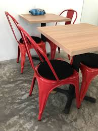retro metal chair red with comfortable black chair cushion furniture tables chairs on carou