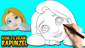 draw rapunzel tangled easy step step drawing lessons
