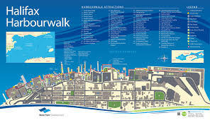 Halifax Canada Map by Halifax Harbour Walk Map