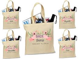 bridal party tote bags bridesmaid tote bridal party gift custom bag personalized tote