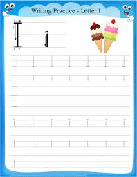 letter i is for ice cream handwriting practice worksheet free
