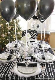 black white silver table celebrations at home