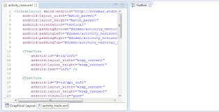 matrix layout xml view eclipse with adt 22 6 0 outline view is empty when a layout xml open