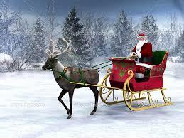 depositphotos 4208527 reindeer pulling a sleigh with santa claus