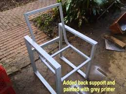 Metal Wood Chair Wood And Steel Chair Youtube