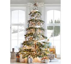 gold mirrored tree topper pottery barn
