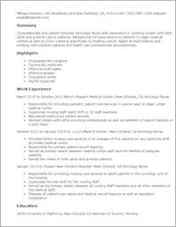 Resume Sample For Doctors by Medical Resume Templates To Impress Any Employer Livecareer