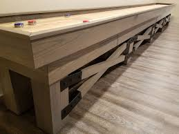 barrington 9 solid wood shuffleboard table rustic shuffleboard table coma frique studio 5661bbd1776b