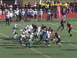 abington vs whitman hanson thanksgiving day 11 22 12 varsity