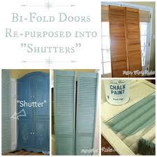 repurposed bi fold doors duck egg blue chalk paint artsy