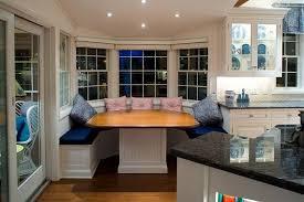 Bay Window Breakfast Nook Design Ideas Inside Bay Window Kitchen - Bay window kitchen table