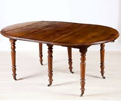 Antique Dining Furniture 18th Century Flemish Oak Gate Leg Dining Table With Center Leaf