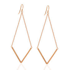 dangle earing triangle dangle earrings anuja tolia