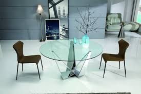 nelson glass dining table only with brushed stainless steel