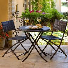 folding chairs and table set balcony wicker patio dining garden