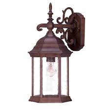 Acclaimlighting Acclaim Lighting Fripp Collection 1 Light Brushed Silver Outdoor